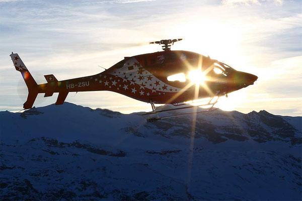 Helikopter Rundflug ab Raron