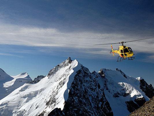 Alpenrundflug Helikopter Engadin