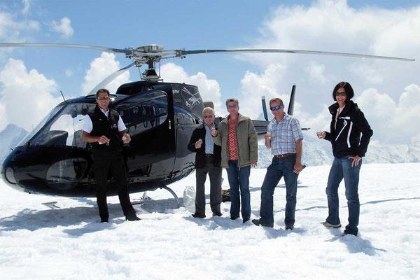 Landng auf dem Gletscher