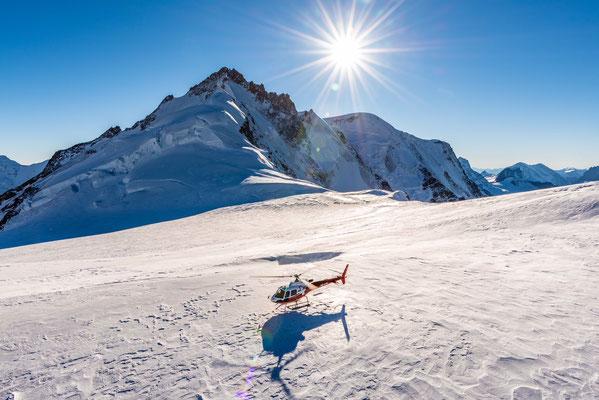 Gletscherlandung Helikopter
