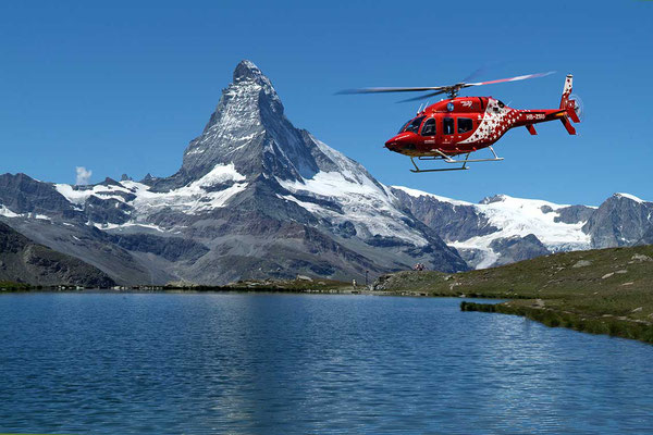 Matterhorn Helikopterrundflug Air Zermatt