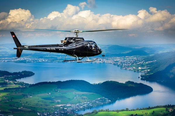 Helikopterflug ab Bern