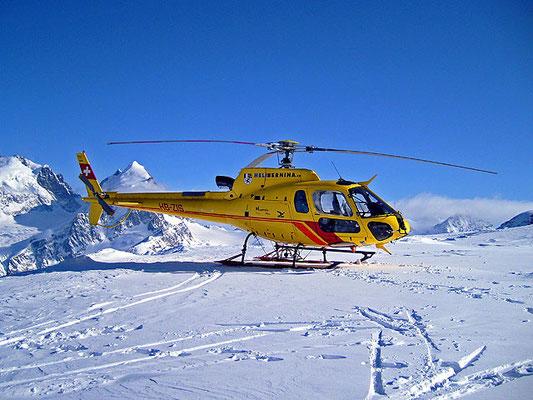 Helikopterflug ab St. Moritz