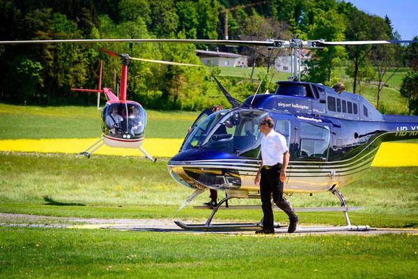 Helikopter schnupperflug