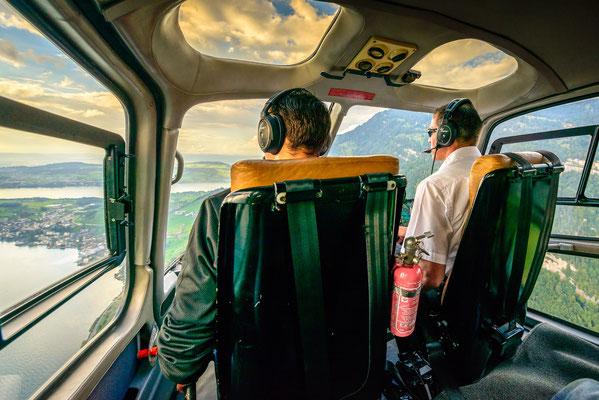Helikopter Rundflug Cockpit
