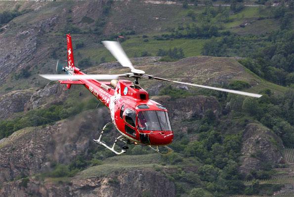 Helikopterstart Raron