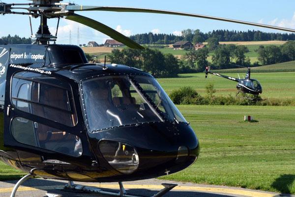 Helikopter selber fliegen Tessin