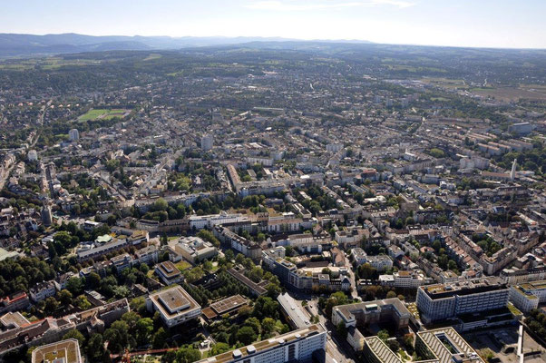 Basel Stadt Helikopterflug