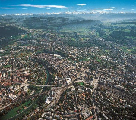 Stadt Bern Helikopter Rundflug