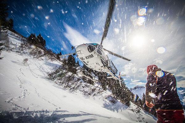 Helikopter Landeanflug