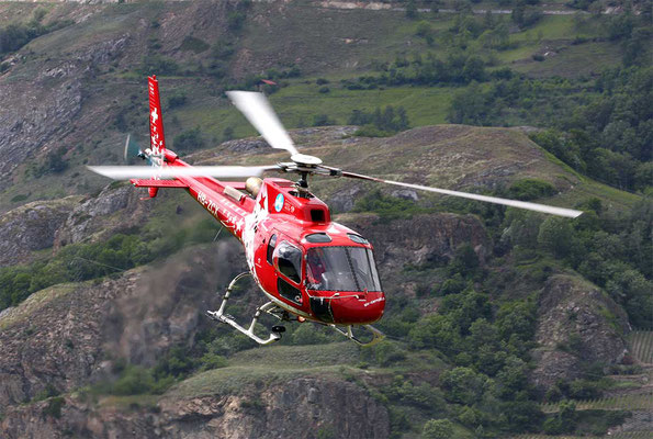 Helikopterflug Basis Raron