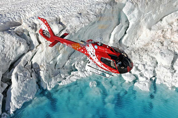 Gletscherrundflug Raron