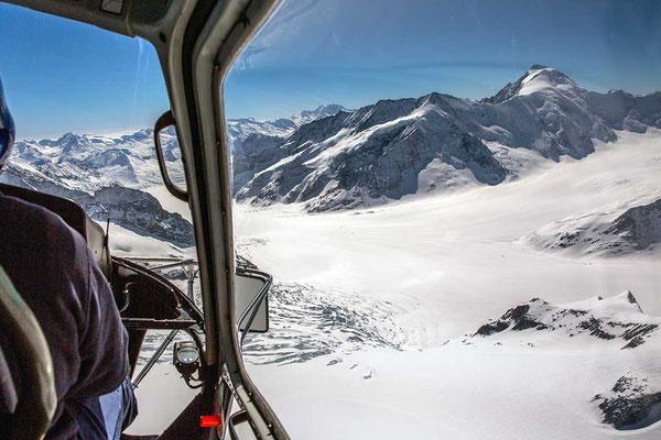 Alpenrundflug Aletschgletscher
