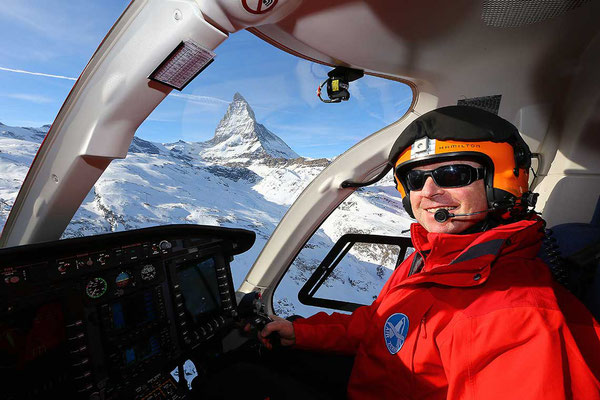 Cockpit Helikopter Rundflug Air Zermatt