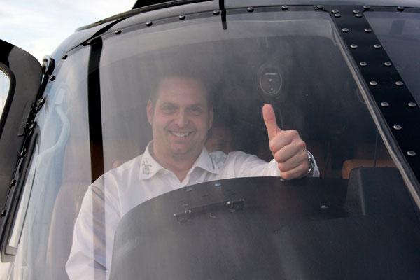 Regionaler Rundflug Pilot