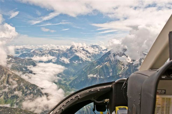 Cockpit Helikopter Rundflug Luzern
