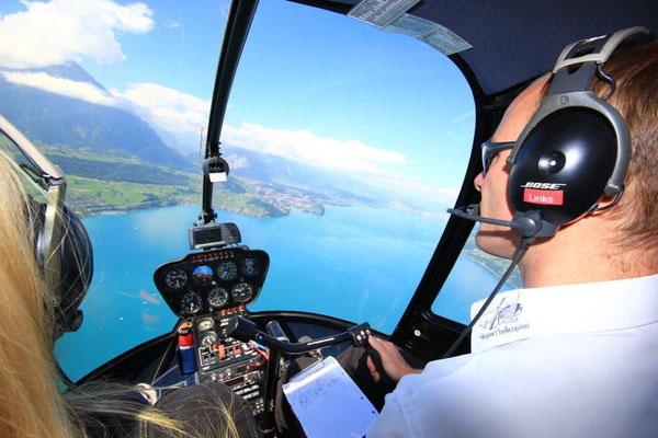 Thunersee Helikopterflug