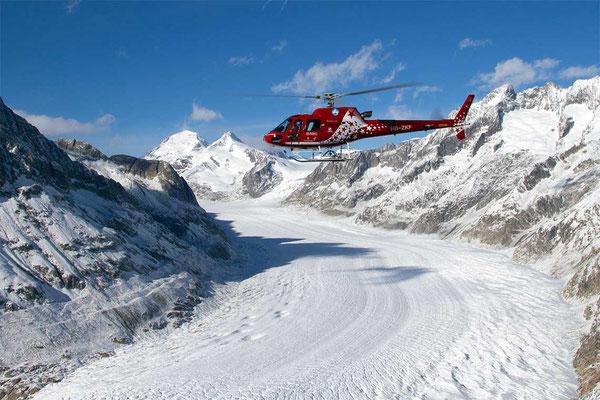 Gletscherflug Helikopterrundflug Raron