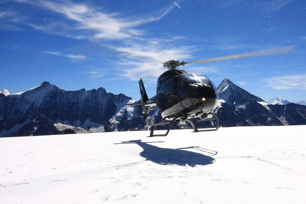 Geltscherlandung Helikopterflug