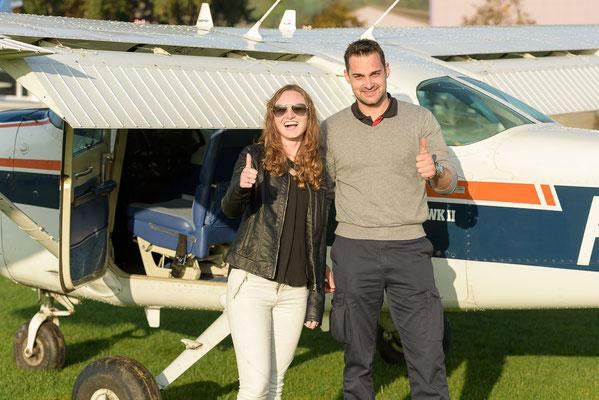 Pilot und Gast