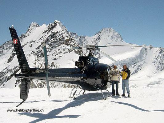 Helikopter Gletscherlandung