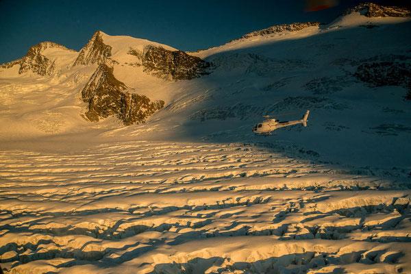 Helikopter Gletscher