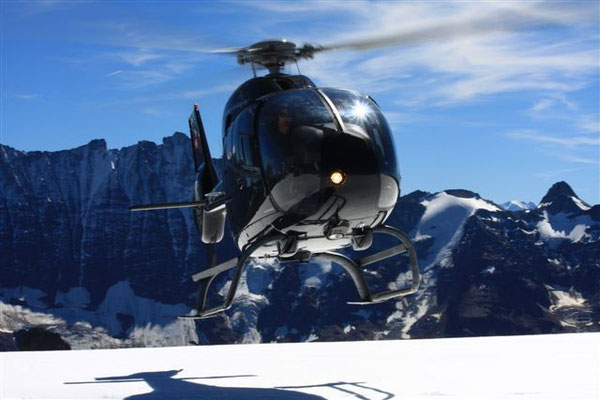 Helikopter Alpenrundflug Gletscherlandung