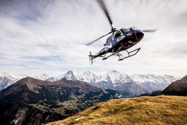 Helikopter aus einer anderen Perspektive