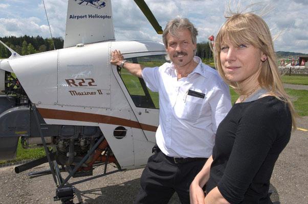 Fluglehrer und Gast