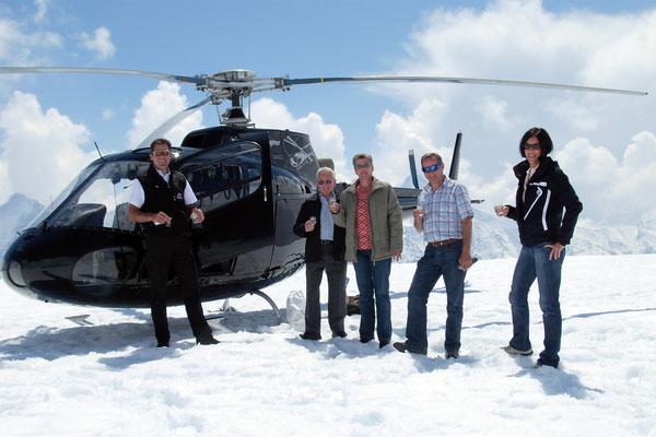 Helikopter Rundflug  Gletscherlandung
