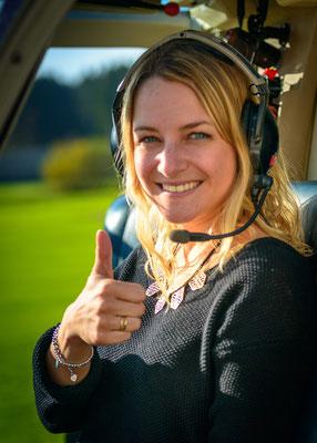 Helikopter fliegen macht Spass