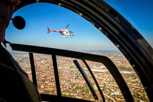 Helikopter im Flug