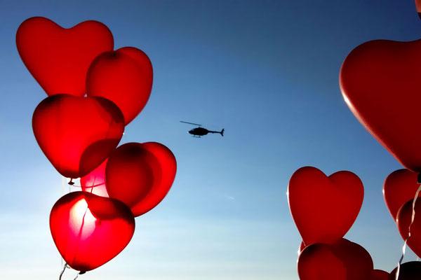 Rundflug mit Herz
