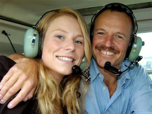 Fluggäste Helikopterflug