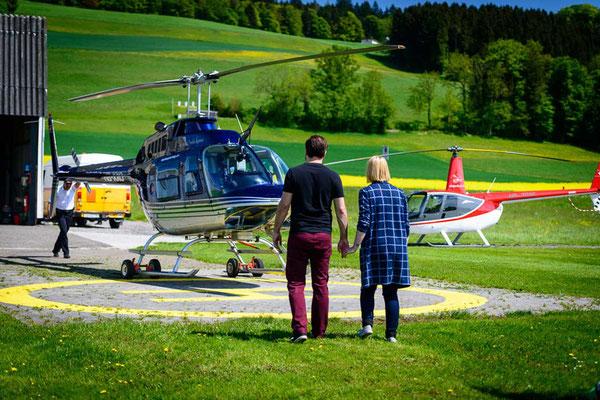 Helikopter vorbereitungen