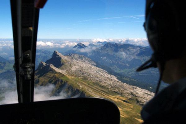 Helikopter selber fliegen ab Sitterdorf