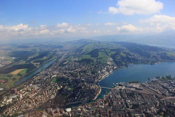 Hubschrauberflug Luzern Rundflug ab Buochs
