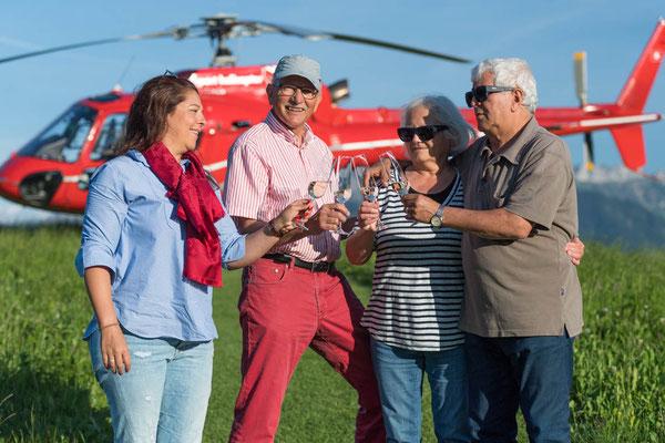 Einen Familien Ausflug bei einem Helikopterflug AIRleben