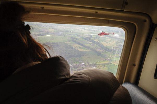 Mario Lang beim Überflug zum Festrplatz