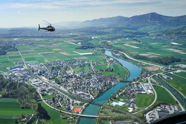 Helikopterflug Grenchen