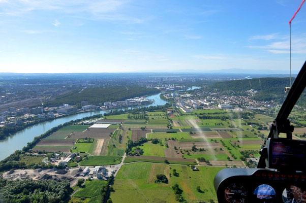 Rhein Helikopterflug