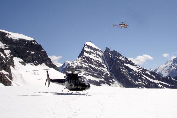 Helikopterlandung ab Gstaad