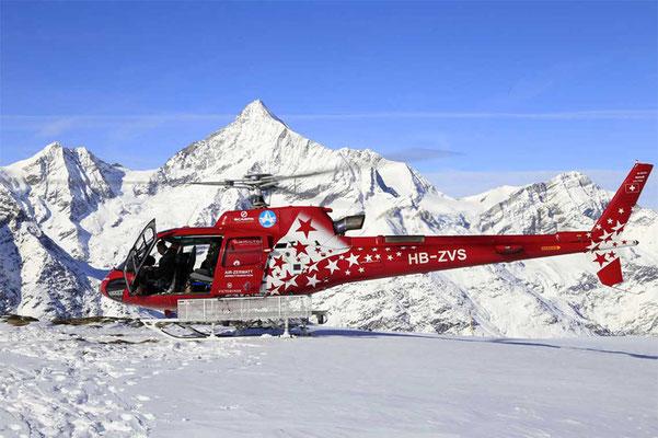 Aussenlandung Helikopter Rundflug Raron