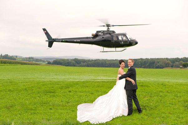 Hochzeits Helikopterflug