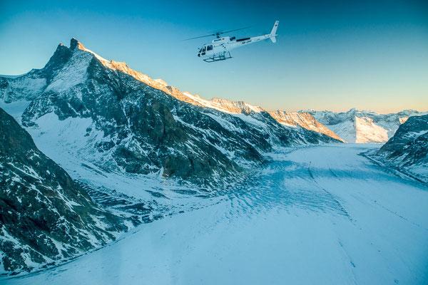 Helikopterflug Aletschgletscher