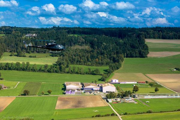 Flugplatz Luzern-Beromünster Helikopterstart