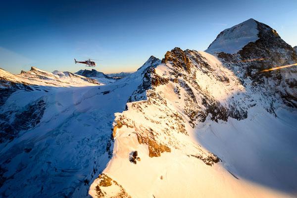 Helikopterflug Alpen