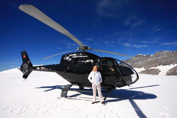 Helikopterflug mit Gletscherlandung