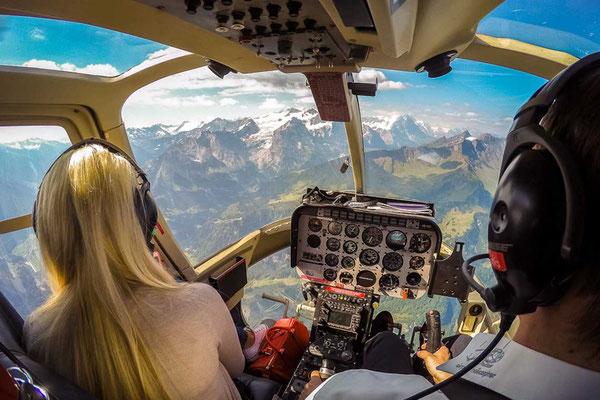 Cockpit bei Erlebnisflug