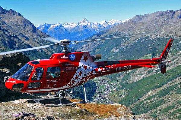 Flugplatz Raron Hubschrauberflug